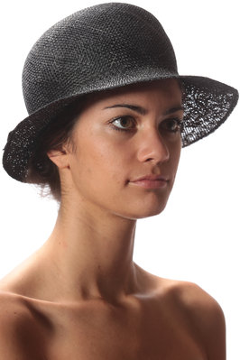 double sinamay hat  - 228