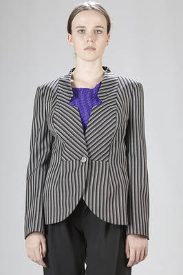Fitted-at-the-waist jacket in pinstripe wool  - 266