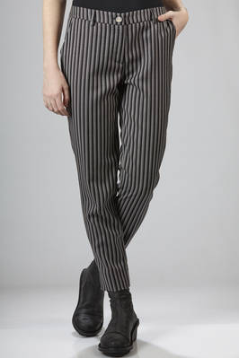 Ankle length trousers in pinstripe wool  - 266