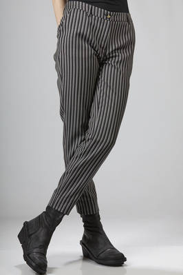 Ankle length trousers in pinstripe wool - VIVIENNE WESTWOOD - Red