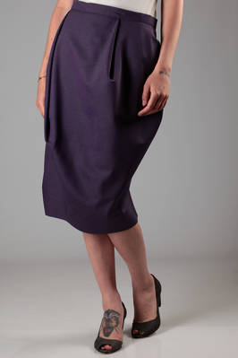 egglike skirt in wool twill  - 266