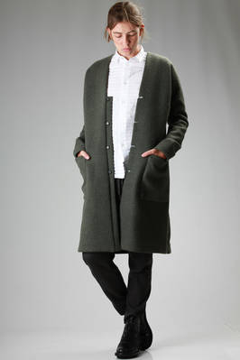 coat in heavy stitched doubled wool with cotton lining  - 285