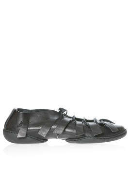 SPIDER flat shoe in soft cowhide leather with laces and side stripes  - 51