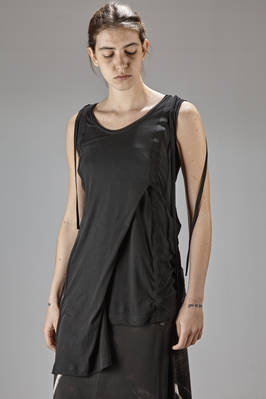 long and asymmetric top in cotton, triacetate and polyester jersey with a dry touch  - 73