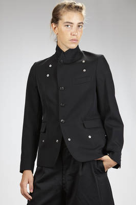 man jacket in wool gabardine and some parts in cotton velvet, cupro lined - COMME DES GARÇONS