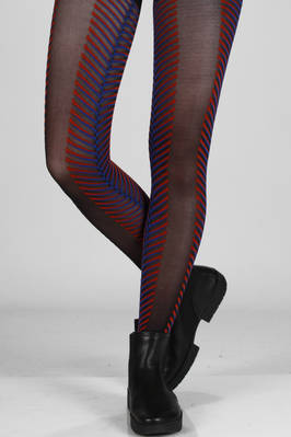 knitted nylon tights with multicoloured zebra pattern  - 47