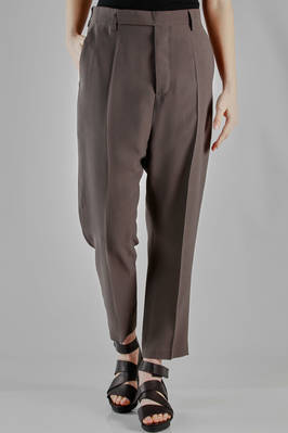 ankle trousers in viscose and acetate khady, cupro lined  - 120