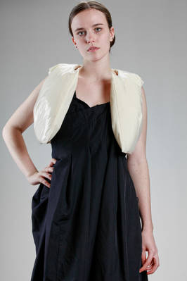 short waistcoat in lined cotton cloth and covered in transparent pvc  - 48