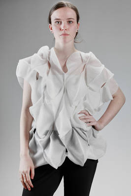 'sculpture' top in nylon and polyester gauze  - 74