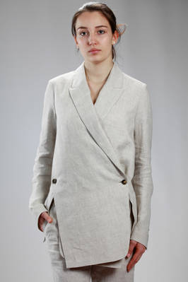 man jacket in cotton and linen cloth, cotton lined  - 161