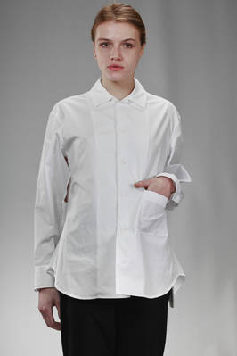 long and wide shirt in cotton poplin  - 73