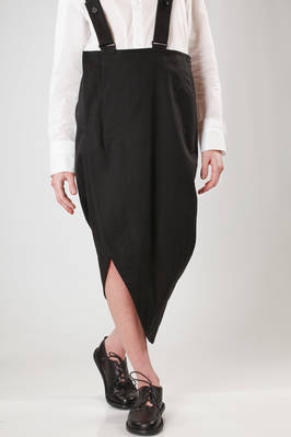long and asymmetric skirt in cotton and linen cloth  - 73