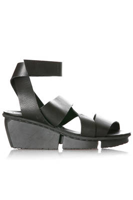 high FILM sandal in soft cowhide leather and three rubber blocks outsole  - 51