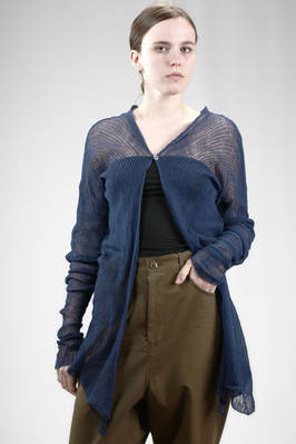 long and slim fit cardigan in linen network  - 285