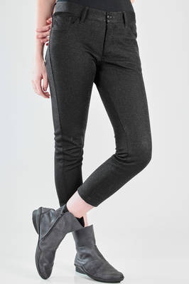 5 pockets leggings in lurex with horizontal polyester, cotton and nylon textures,  - 74