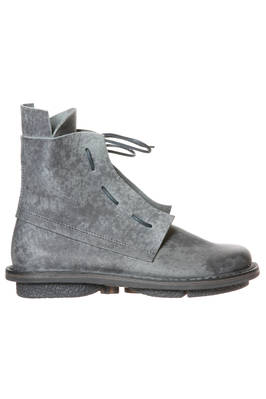 SOLID ankle boot in shinny cowhide leather with with shades of rain stains  - 51