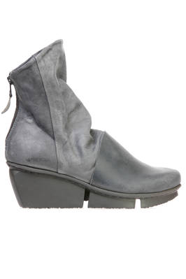 LAVA ankle boot with heels in matt and treated cowhide leather with nabuk effect and smooth cowhide leather  - 51