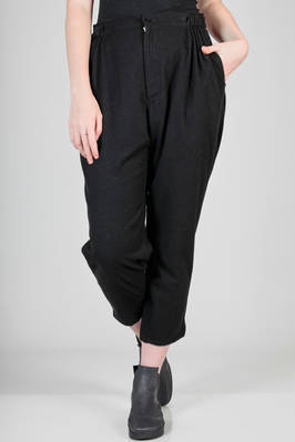 soft trousers in wool and nylon flannel, cupro lined  - 73