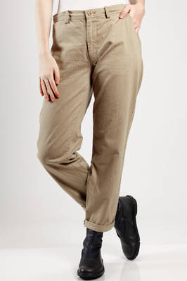 jeans alike trousers in linen and cotton canvas  - 97