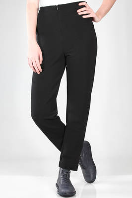 slim fit straight trousers in jersey with horizontal polyamide and elastane lines  - 292
