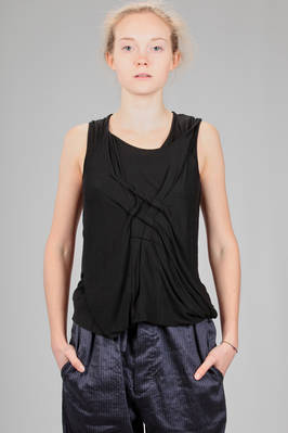 hip length tank top in jersey of viscose and cashmere  - 161