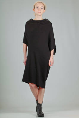 asymmetrical tunic in cotton knitted fabric  - 187