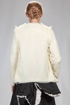 hip length cardigan in mohair and nylon knitting doubled on light wool knitting - COMME DES GARÇONS