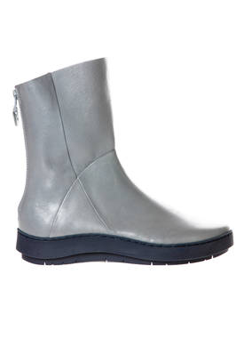 WIN 'rain' boots in shiny cowhide leather and contrasting color sole  - 51