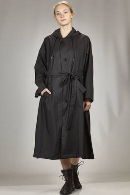 long waterproof trench in water-repellent nylon canvas  - 121