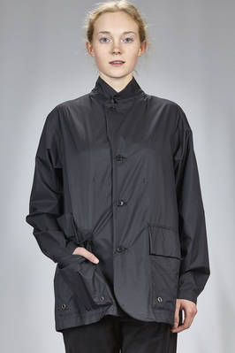 long jacket in water-repellent nylon canvas  - 121