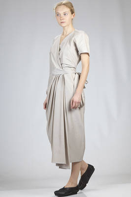 long dress in light cotton and silk batavia canvas  - 120