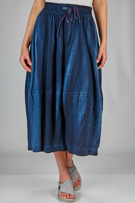 longuette skirt in organic cotton jersey with natural dyeing  - 363