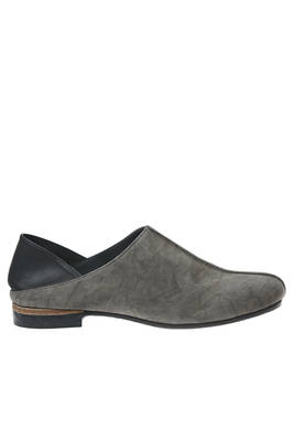 'PHAEDO' slipper shoe in silk with shaded leather effect and the heel in contrasting color soft leather  - 365