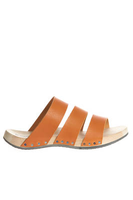 ALP clog with three horizontal cowhide leather straps on the upper  - 51