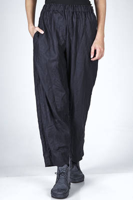 straight trousers in washed wool drill  - 195