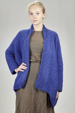 long and wide cardigan in long thread knitted silk  - 195