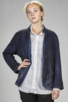 hip length jacket/cardigan in recycled boiled cashmere knitting  - 360