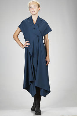 132 5. Issey Miyake – calf length asymmetrical dress in smooth recycled polyester canvas  - 47