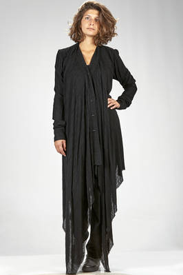 long and wide cardigan in light textured modal and polyamide jersey  - 163