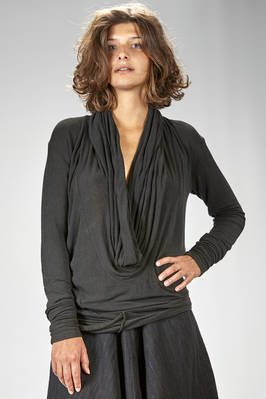 long and soft t-shirt in very light viscose, wool and elastane jersey  - 163