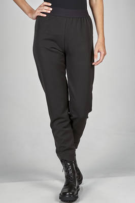 leggings alike trousers in soft gabardine of polyester, viscose and elastane  - 364