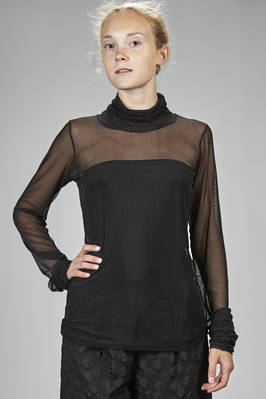 hip length t-shirt in polyester and elastane  - 364