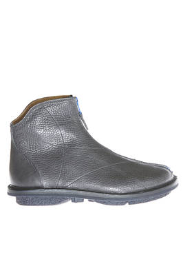 ZIP BOOT ankle boot in hammered cowhide leather with contrasting color zipper  - 51