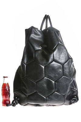 HEXAGON back pack of medium dimensions in slightly hammered cowhide leather  - 51